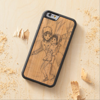 Old Fashioned Skaters in Blue II Carved Cherry iPhone 6 Bumper Case