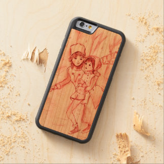 Old Fashioned Skaters in Red Carved Cherry iPhone 6 Bumper Case