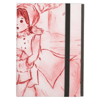 Old Fashioned Skaters in Red iPad Air Case
