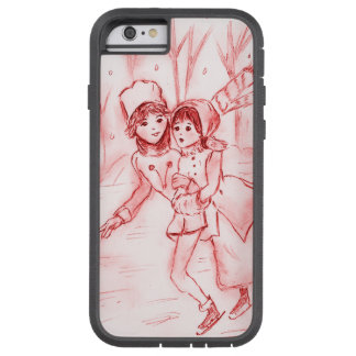 Old Fashioned Skaters in Red Tough Xtreme iPhone 6 Case