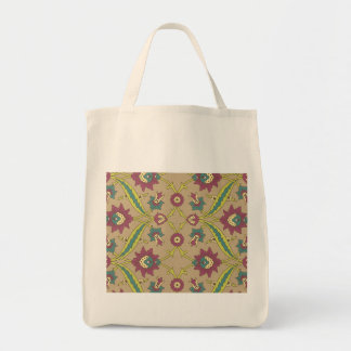 Old Fashioned Style Floral Canvas Bag
