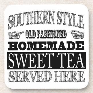 Old Fashioned Sweet Tea Vintage Look Advertising Beverage Coaster