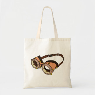 Old fashioned swimming goggles budget tote bag