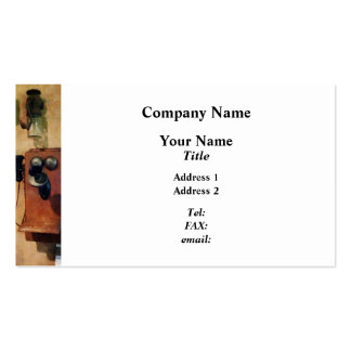 Old-Fashioned Telephone Business Cards