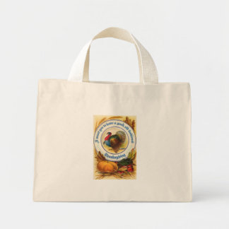 Old Fashioned Thanksgiving Tiny Tote Canvas Bags