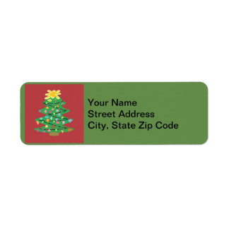 Old Fashioned Tree Return Address Label