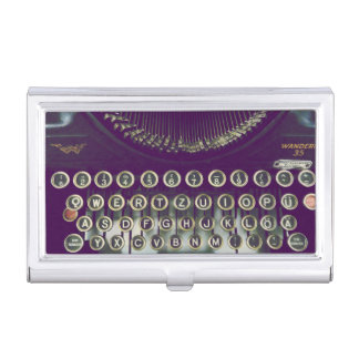 old fashioned typewriter business card holder