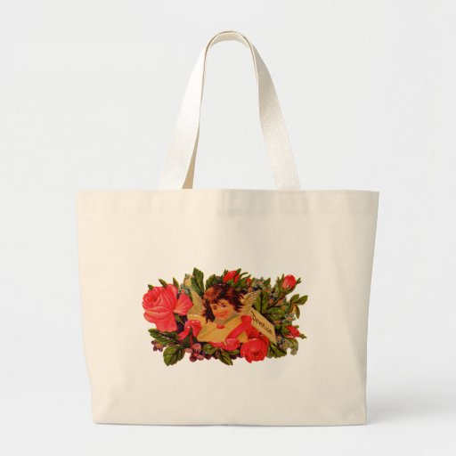 Old Fashioned Valentine Cupid Tote Bag