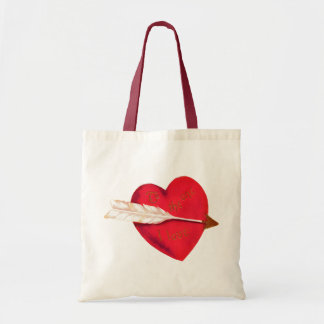 Old Fashioned Valentine's Heart Canvas Bag