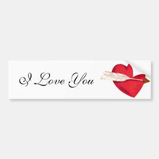 Old Fashioned Valentine's Heart Bumper Sticker