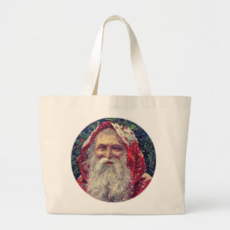 Old-fashioned Victorian Saint Nicholas Large Tote Bag