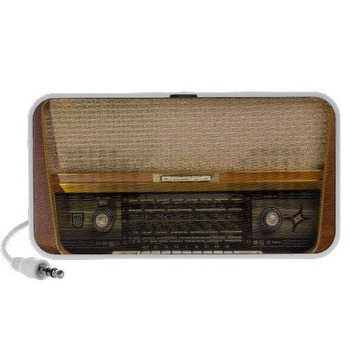 Old Fashioned Vintage Radio 1 Mp3 Speakers