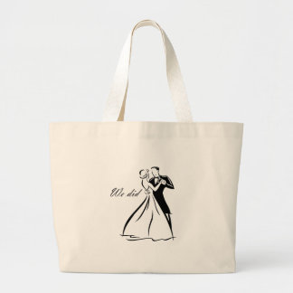 Old Fashioned Wedding Couple dancing Canvas Bag