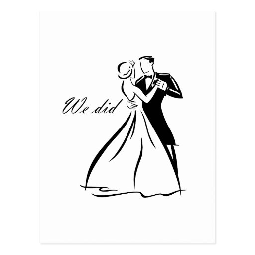 Old Fashioned Wedding Couple dancing Post Cards
