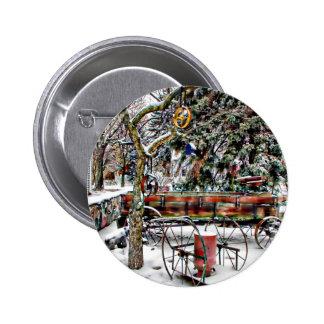 Old Fashioned Winter Wonderland Pinback Button