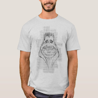 Old Fat Man Sketch Portrait Funny T-shirt