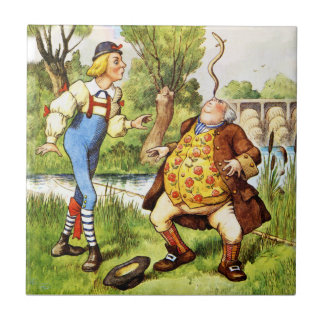 Old Father William From Alice in Wonderland Tile