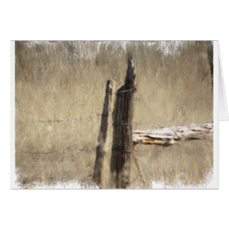 Old fence post in the Big Horns, Wyoming Greeting Card