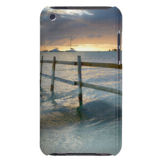 Old fence running into the ocean barely there iPod cover
