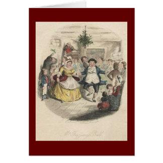 Old Fezziwig's Christmas Ball, A Christmas Carol Card