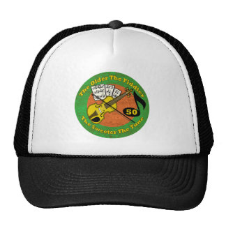 Old Fiddler 50th Birthday Gifts Cap