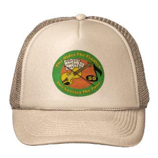 Old Fiddler 50th Birthday Gifts Trucker Hat