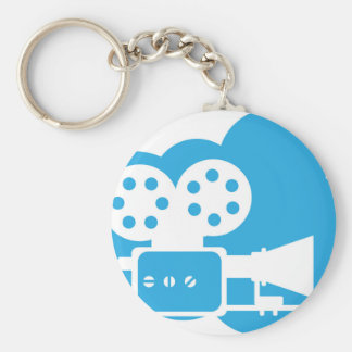 Old film camera Cloud Icon Vector Key Ring