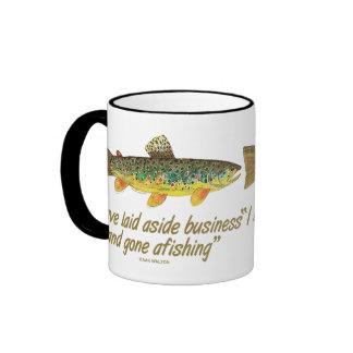 Old Fishing Words Ringer Mug