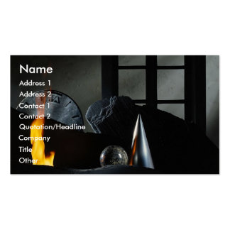Old flame burning background business card template