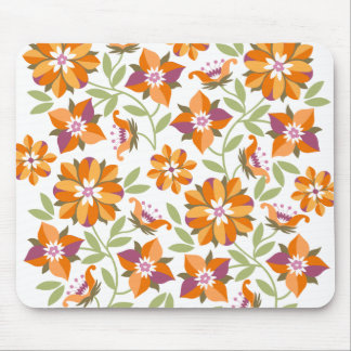 Old Flowers Mouse Pad