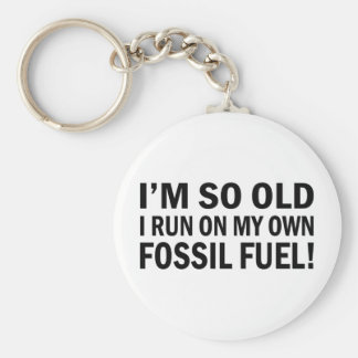 Old Fossel fuel Basic Round Button Key Ring
