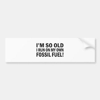 Old Fossel fuel Bumper Stickers