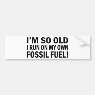 Old Fossil Fuel Bumper Stickers