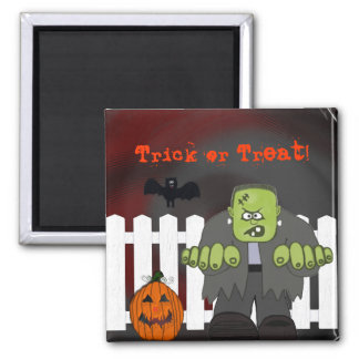 Old Frank Halloween Ghost Magnet