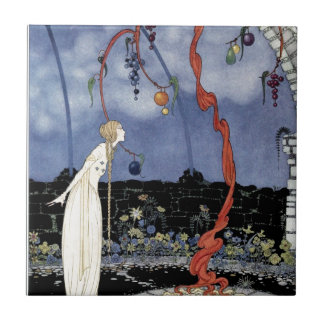 Old French Fairy Tales: A Tree of Marvelous Beauty Small Square Tile