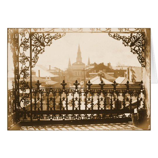 Old French Quarter Balcony Card