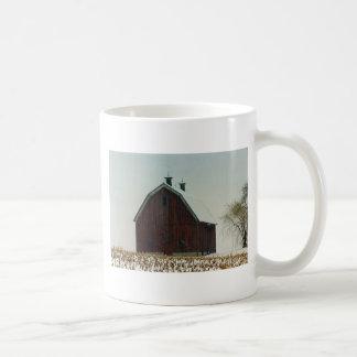 Old Gambrel Roof Barn on a Snowy Day Coffee Mug
