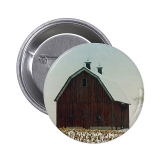 Old Gambrel Roof Barn on a Snowy Day Pins