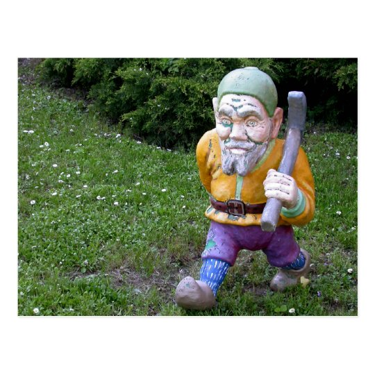 Old Garden Gnome Pitman Postcard
