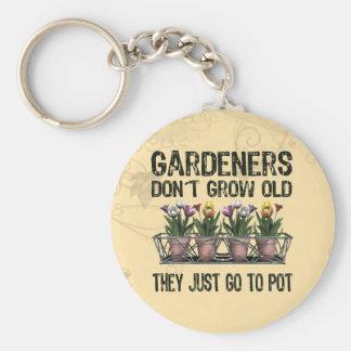 Old Gardeners Basic Round Button Key Ring
