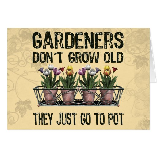 Old Gardeners Greeting Cards