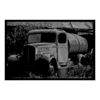 Old gas truck poster