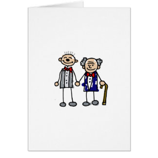 Old Gay Couple Card