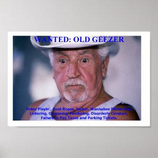 Old Geezer Poster