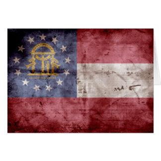 Old Georgia Flag; Note Card