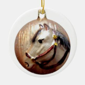 Old German Horse Head Ceramic Ornament