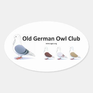 Old German Owl Club Sticker