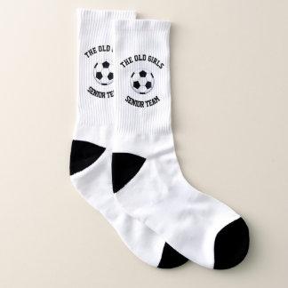 Old Girls Senior Team Large All-Over-Print Socks