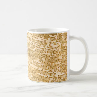 Old Glasgow City Street Map Coffee Mug