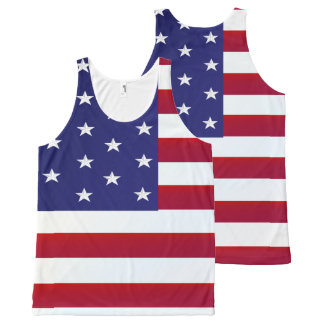 Old Glory-America All-Over Print Singlet